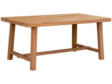 Vollholztisch aus Eiche Massivholz lackiert und gebürstet
