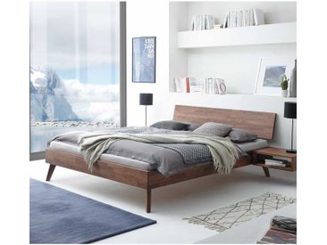 Nussbaum Holzbett massiv geölt modern