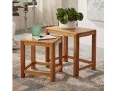 Tisch Set aus Wildeiche Massivholz geölt (zweiteilig)