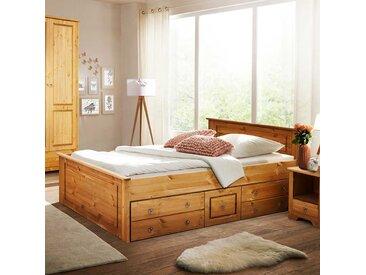 Doppelbettgestell aus Kiefer Massivholz Landhausstil