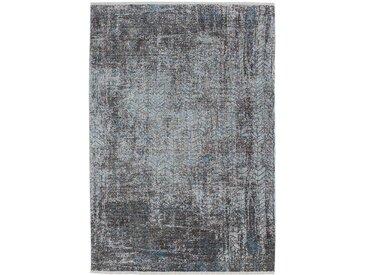 Kurzflorteppich in Türkis und Grau Vintage Design