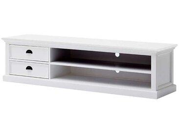 TV Unterschrank in Weiß Landhaus Design