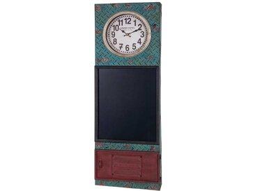 Küchentafel mit Uhr Bunt