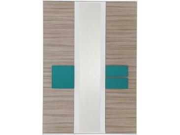 Jugendzimmer Kleiderschrank in Holz Petrol Spiegel