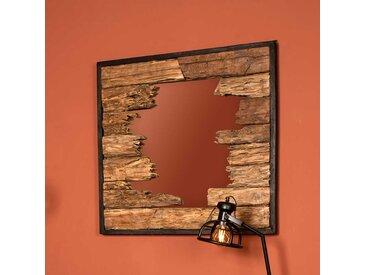 Design Spiegel aus Teak Massivholz rustikalen Landhausstil