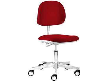 Schreibtischdrehstuhl in Rot Webstoff Made in Germany