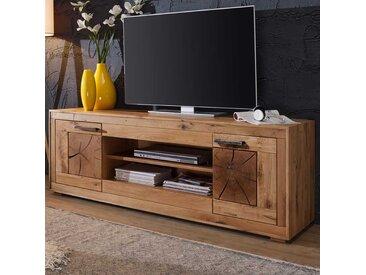TV Schrank aus Wildeiche Massivholz 200 cm breit