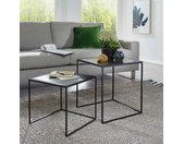 Sofa Beistelltische im Industry Design Metall (zweiteilig)