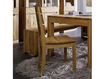 Holzstuhl aus Wildeiche massiv geölt