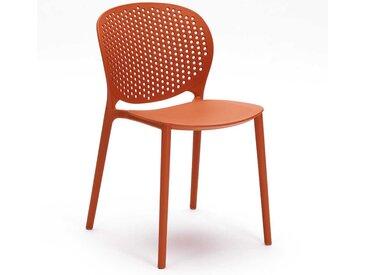 Stapelstuhl in Rot Kunststoff (4er Set)