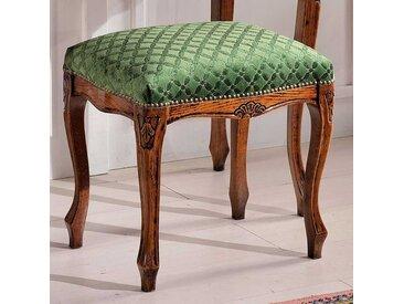 Sitzhocker in Grün gemustert Barock Design