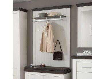 Wandpaneel Garderobe in Weiß Braun Landhaus