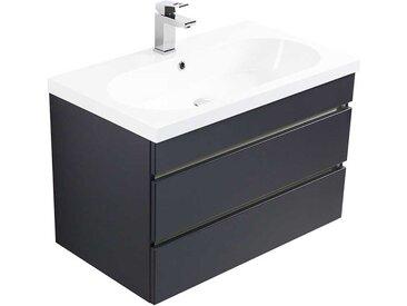 Waschtischunterschrank in Anthrazit 55 cm hoch
