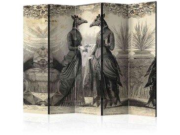 Spanische Wand mit Fantasy Giraffen Motiven 5 teilig