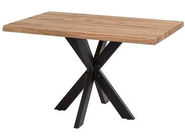 Esszimmertisch aus Eiche Massivholz und Metall Loft Style