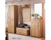 Garderoben Set in Eiche Bianco modern (fünfteilig)