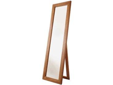 Standspiegel aus Wildeiche Massivholz klappbar
