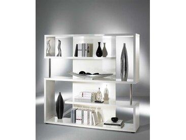 Design Regal in Hochglanz Weiß mit Fächern