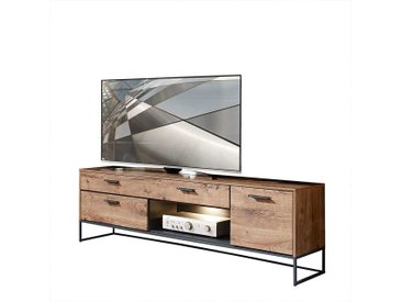 Fernsehboard in Eiche dunkel Optik Loft Design