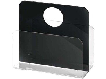 Zeitungskorb in Schwarz Acrylglas