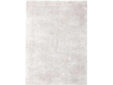 Hochflor Teppich in Creme Weiß modern