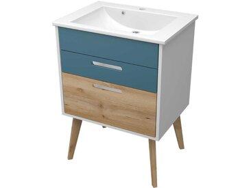 Waschbeckenschrank in Bunt skandinavischen Look