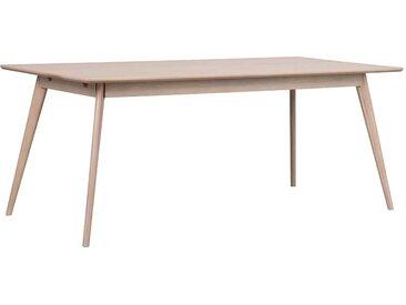 Esstisch mit Eiche White Wash furniert Skandi Design