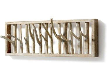 Design Hakengarderobe aus Teak Massivholz Landhaus rustikal