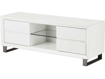 TV Möbel in Weiß und Grau 150 cm breit