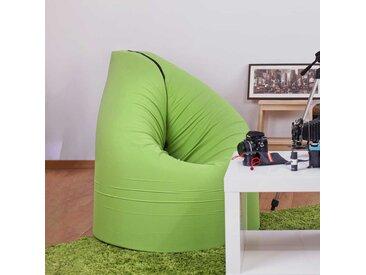 Jugendzimmer Sitzsessel in Grün Grau Webstoff Gästebett nutzbar