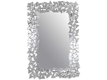 Designer Spiegel in Silberfarben 120 cm hoch