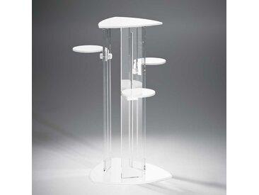 Design Blumensäule aus Acrylglas Weiß