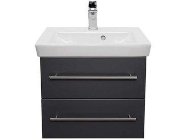 Waschkommode mit zwei Schubladen Anthrazit