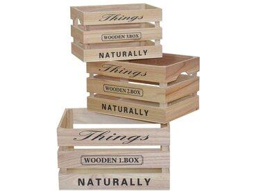 Dekokisten Holz massiv Günstig kaufen (3-teilig)