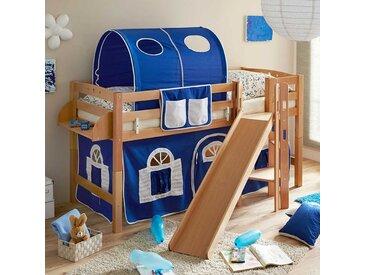 Rutschbett für Jungs Rutsche und Tunnel in Blau