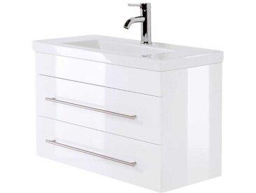 Hochglanz Waschtisch in Weiß Made in Germany