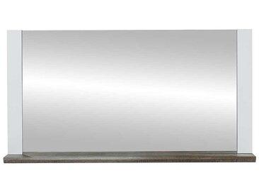 Flurspiegel in Weiß und Treibholz Optik Ablage