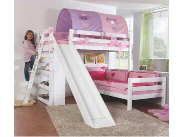 Kinderhochbett mit Rutsche L-Form