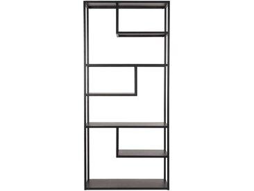 Wohnzimmer Regal in Schwarz Metall