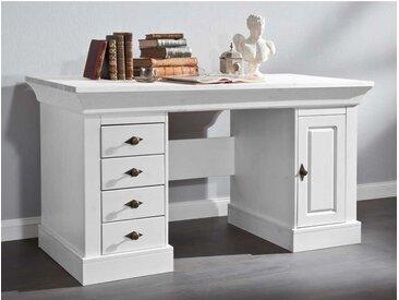 Computer Schreibtisch in Weiß skandinavischer Landhausstil