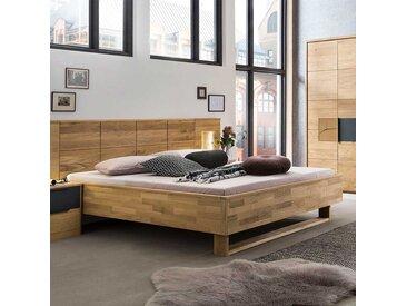 Massivholz Bett aus Eiche geölt Bügelgestell