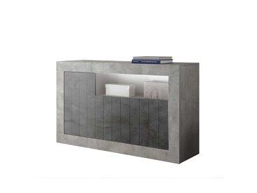 Küchenkommode in Beton Grau und Dunkelgrau modern