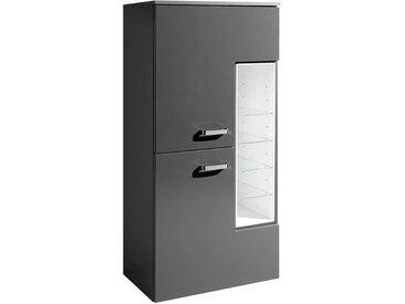 Hochglanz Badschrank in Dunkel Grau 65 cm breit
