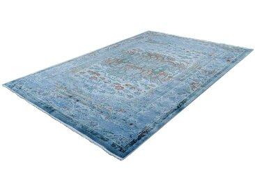 Vintage Teppich in Blau Kurzflor