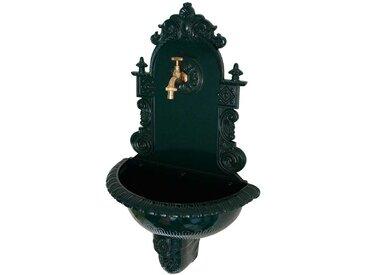 Hängender Brunnen in Dunkelgrün Aluguss