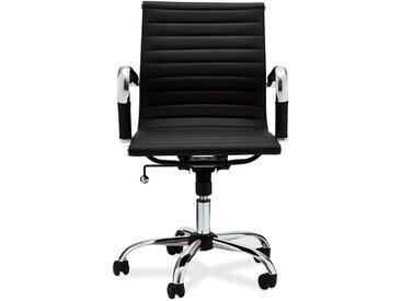 Ergonomischer Bürostuhl in Schwarz und Chromfarben Armlehnen