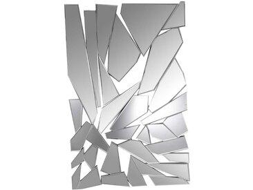 Design Spiegel in Silberfarben 120 cm hoch