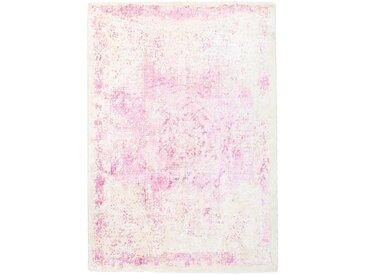 Vintage Teppich in Pink und Rosa floral gemustert