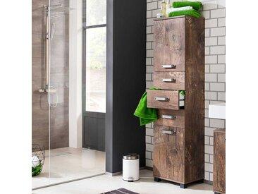 Badezimmer Seitenschrank in Holzpaletten Optik modern