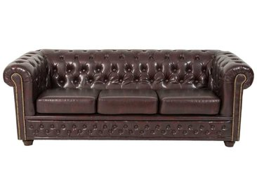 Sofa in Chesterfield Optik Braun